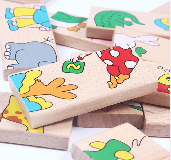 Đồ chơi gỗ, tư duy - GHÉP HÌNH NỐI ĐUÔI CON VẬT
