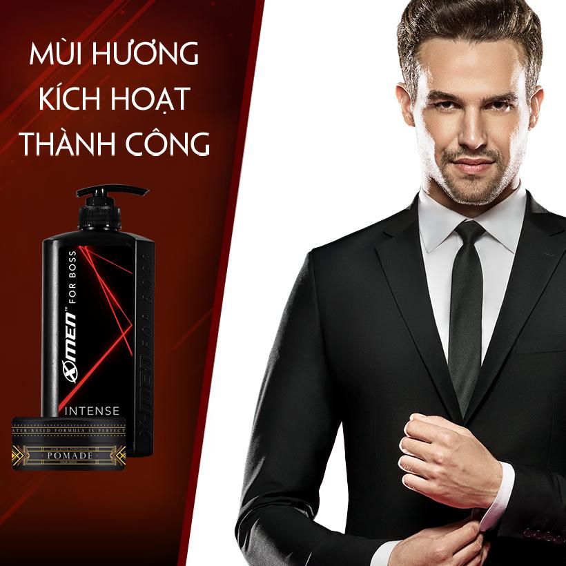 Combo Dầu gội nước hoa X-Men for Boss Intense 650g + Pomade tạo kiểu tóc X-Men For Boss High Hold 60g