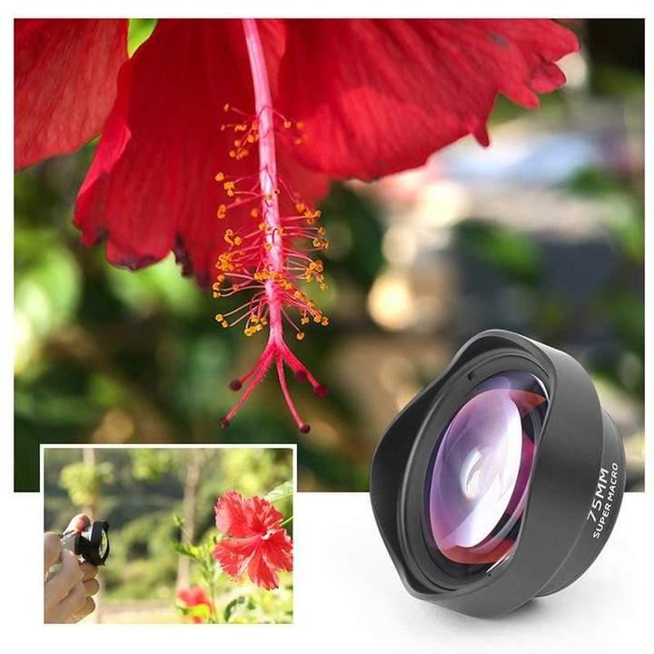 Phụ Kiện Điện Thoại | Ulanzi 75mm Macro Lens, Ống Kính 75mm Cho Phép Bạn Chụp Ảnh Ở Khoảng Cách 1,57 - 2,95In, Khôi Phục Độ Rõ Nét Của Điện Thoại, Hiệu Ứng Chụp Tinh Tế Gần Với Mức DSLR - Hàng Chính Hãng