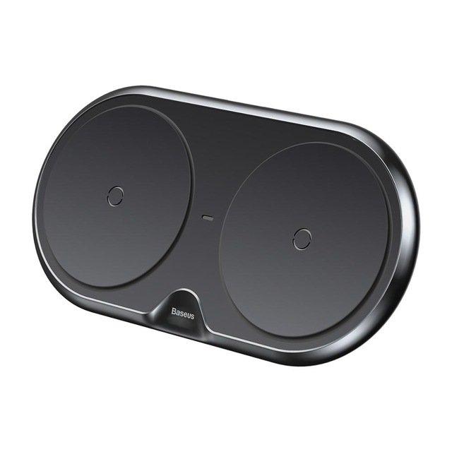 Đế sạc nhanh không dây Baseus Dual Wireless Charger LV292 (10W,Qi Wireless Quick Charger) - Hàng Chính Hãng