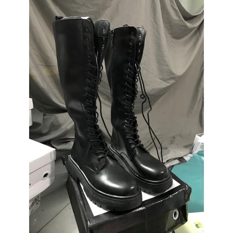 BDL Bốt boot lửng đùi dưới gối da lì khóa cao cấp đủ màu full box