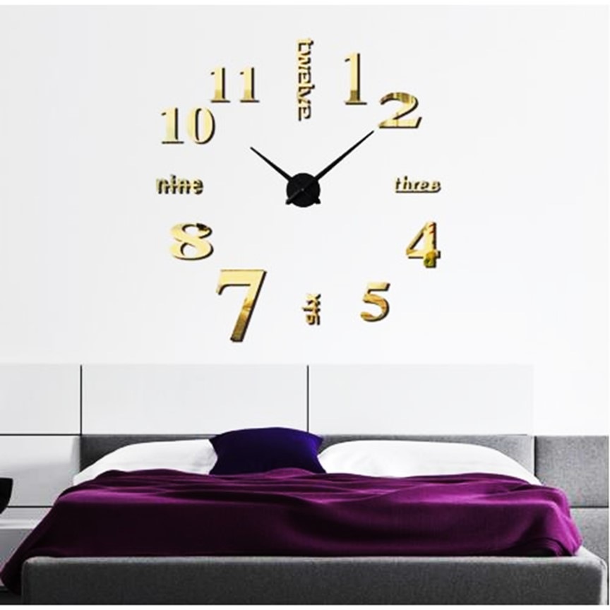 Đồng hồ dán tường 3D chữ và số ( Mẫu SP Ngẫu Nhiên )