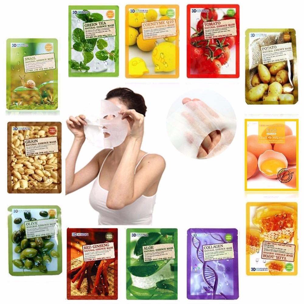 Bộ 10 Gói Mặt Nạ Giữ Ẩm Da 3D Foodaholic Aloe Natural Essence Mask 23ml x10