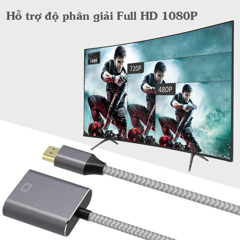 Cáp chuyển đổi HDMI sang VGA cao cấp vỏ nhôm