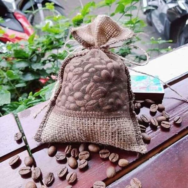 Túi thơm cà phê Việt Nam treo xe ô tô -Robusta Đaklak -100G