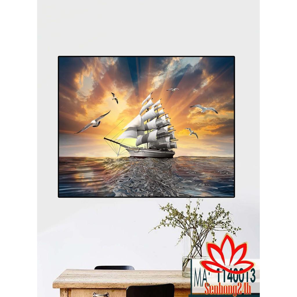 Bộ tranh treo tường phong thủy trang trí nội thất thị trường ĐL 50