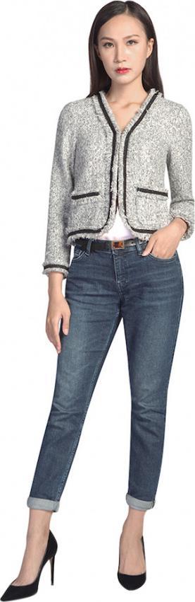 Áo Khoác Nữ Tweed Kẹp Ren De Leah AK1820122Trd Size M