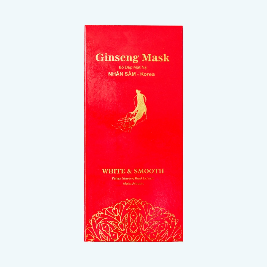 Bộ đắp mặt nạ Nhân Sâm - White & Smooth Gingseng Mask - Xinh đẹp tự nhiên [Sản phẩm chính hãng]