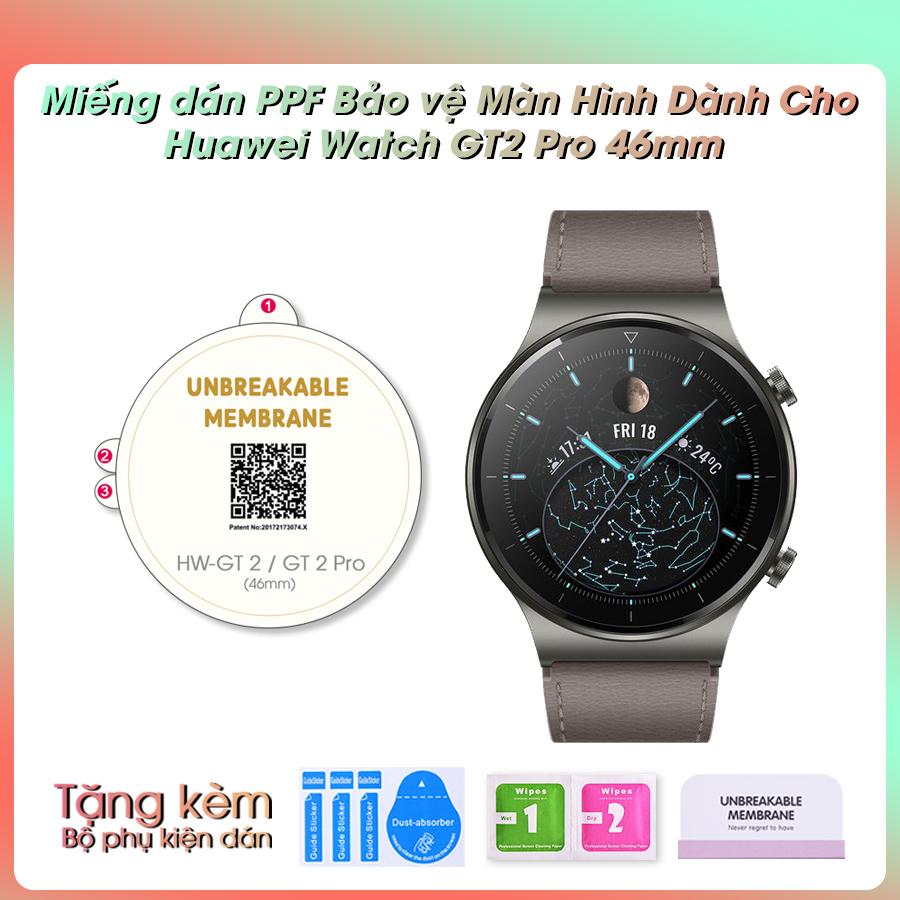 Miếng Dán Màn Hình Mặt Trước PPF Dành Cho Đồng Hồ Thông Minh Huawei GT2 Pro 46mm- Hàng Chính Hãng