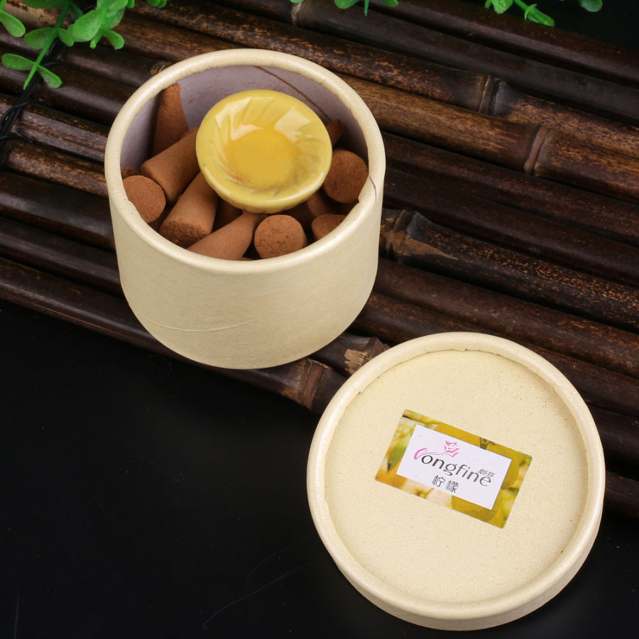 Aromatherapy Home Fragrancing Oil Scented Sticks Lavendar Aroma Small Plate - Lemon