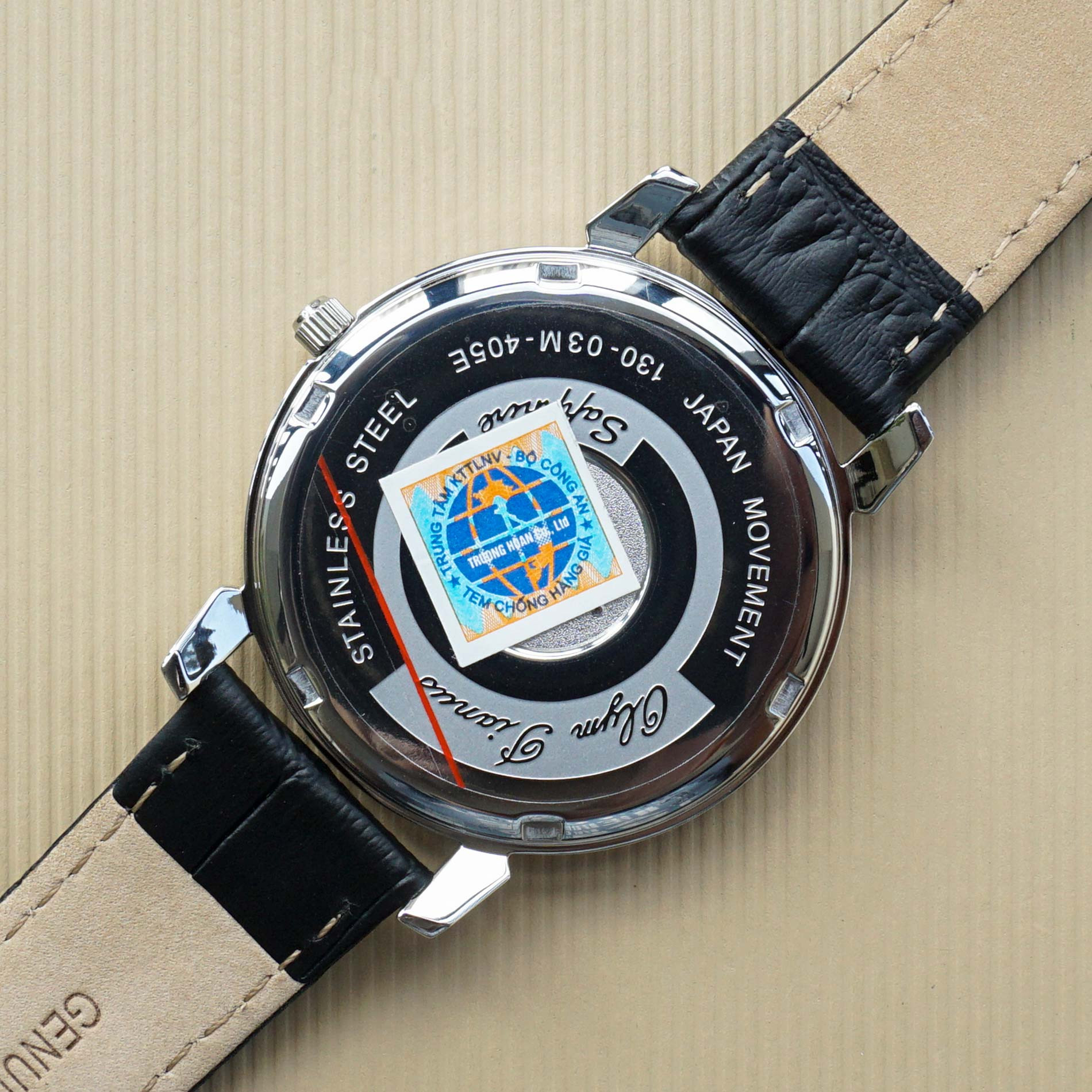 Đồng hồ nam dây da Olym Pianus OP130-03MS-GL xanh