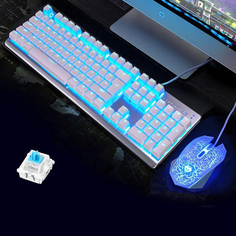 LANGTU M100   Combo bàn phím cơ + chuột chơi game, Led RGB có 2 loại switch lựa chọn - Hàng chính hãng