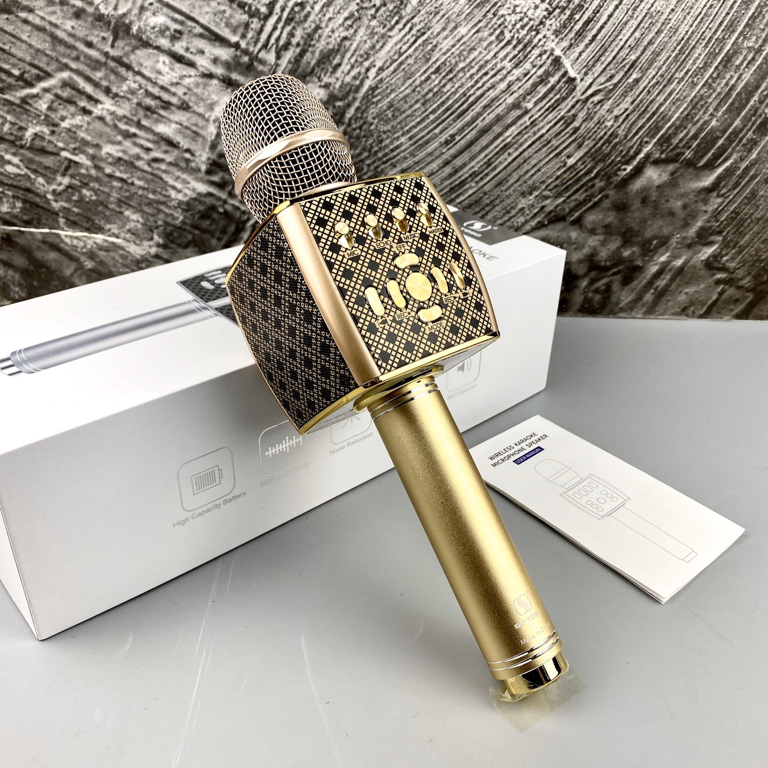 Micro Karaoke Bluetooth Cao Cấp GUTEK YS-95 Tích Hợp Loa Bass Không Dây, Âm Thanh ĐỈnh Cao, Âm Bass Cực Chất, Mic Bắt Giọng Cực Tốt, Hỗ Trợ USB, Thẻ Nhớ, Cổng 3.5, Nhiều Màu Sắc - Hàng Chính Hãng