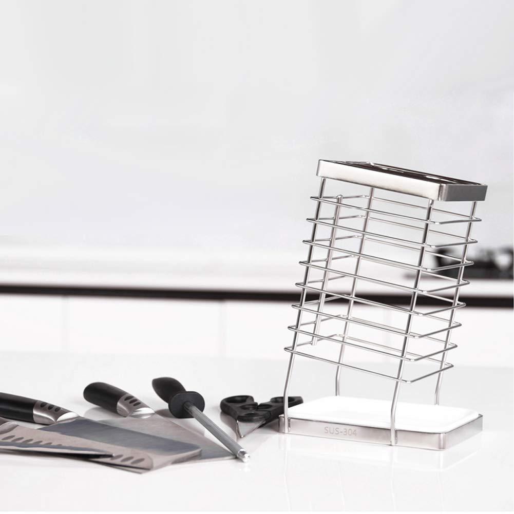 Hộp đựng dao kéo bằng inox 304 kèm khay nhựa hứng nước không rỉ sét nhiều ngăn - HOBBY KDD25