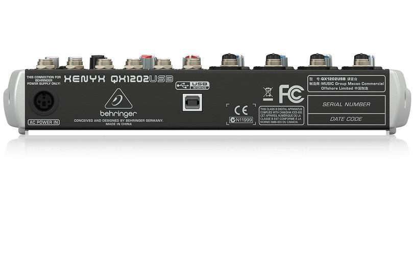 Mixer USB Chuyên Nghiệp 12 Cổng Behringer Xenyx QX1202USB  -Hàng chính hãng