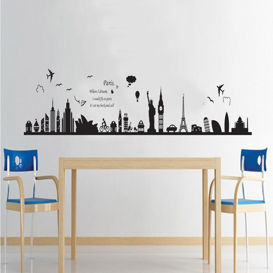 Decal dán tường giấc mơ Paris AY9214 framedecals