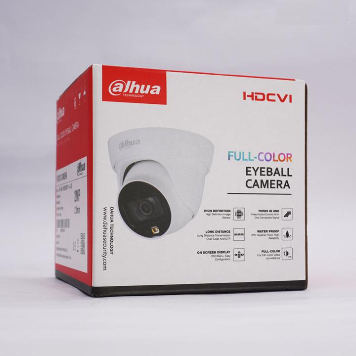Camera dome 2MP FullColor có mic DAHUA DH-HAC-HDW1239TLP-A-LED hàng chính hãng DSS Việt Nam