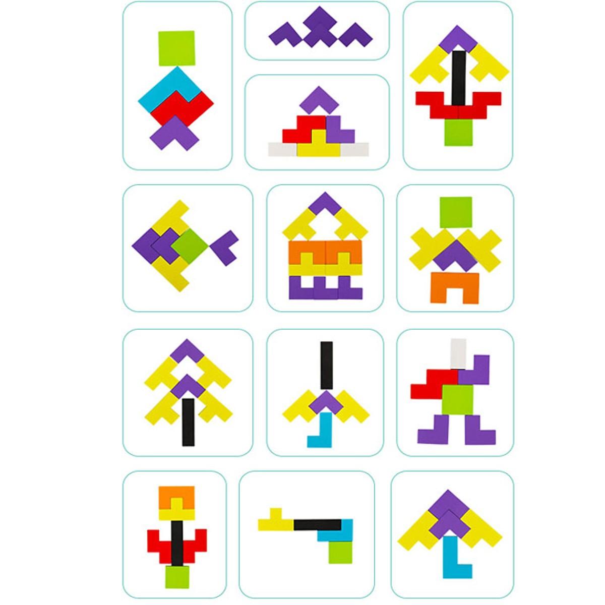 Đồ Chơi Giáo Dục Bảng Xếp Khối Hình Tetris Phát Triển Tư Duy Sáng Tạo Cho Bé
