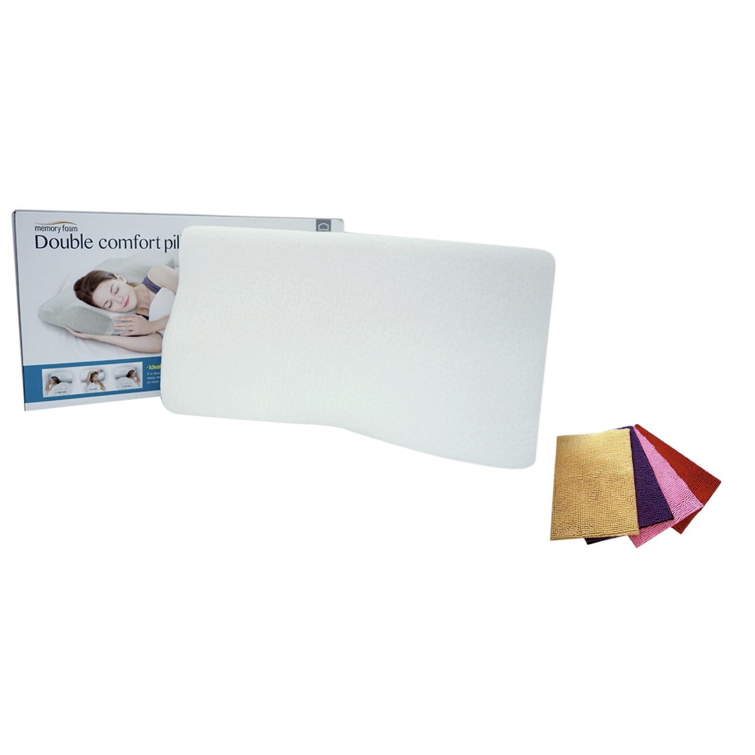 Gối Memory Foam 50D Lock & Lock HLW114 (62 x 34 x 10 cm) Kèm 1 Thảm San Hô
