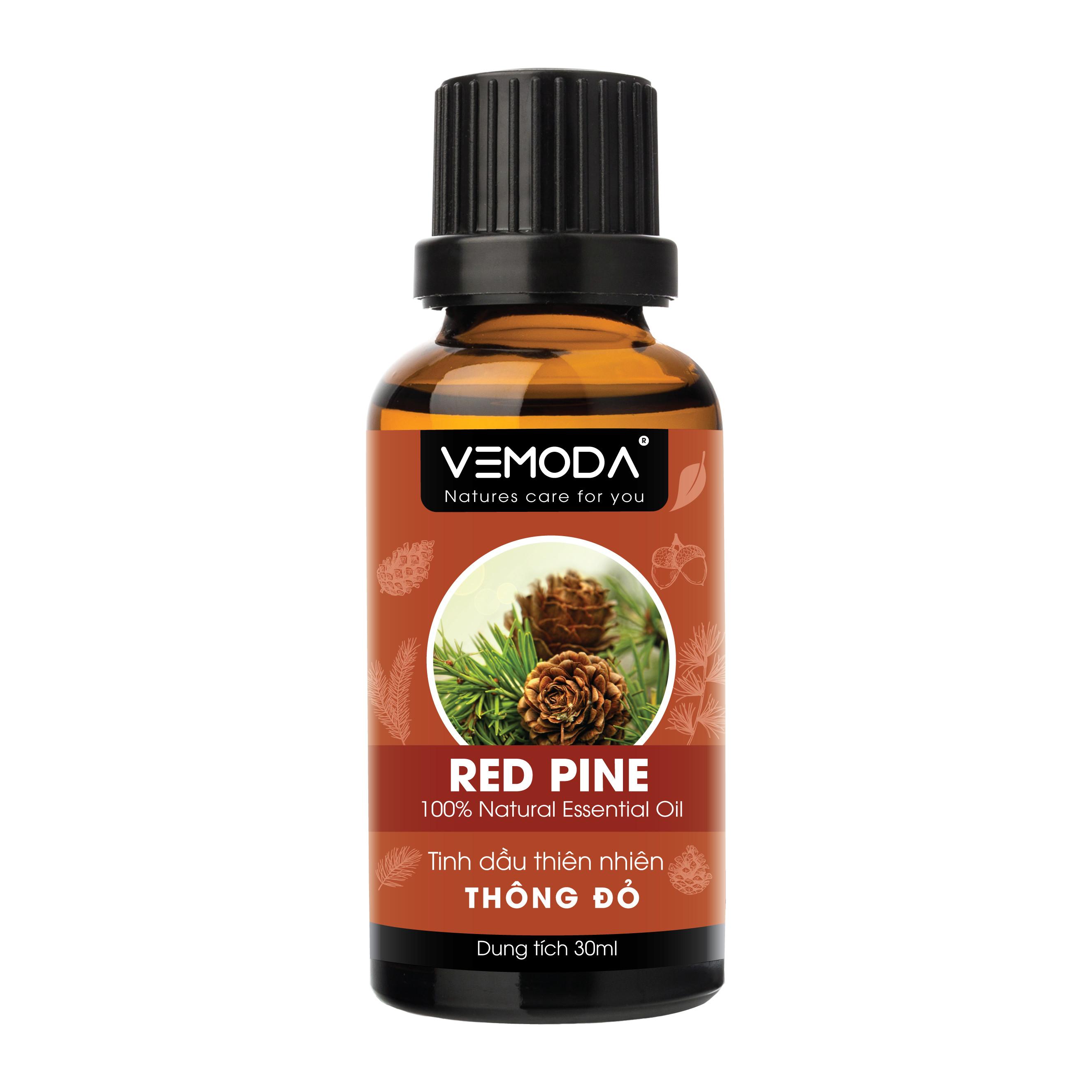 Tinh dầu Thông đỏ nguyên chất Vemoda 30ML giúp thư giãn, an thần, giải cảm, thanh lọc không khí, lưu thông tuần hoàn máu