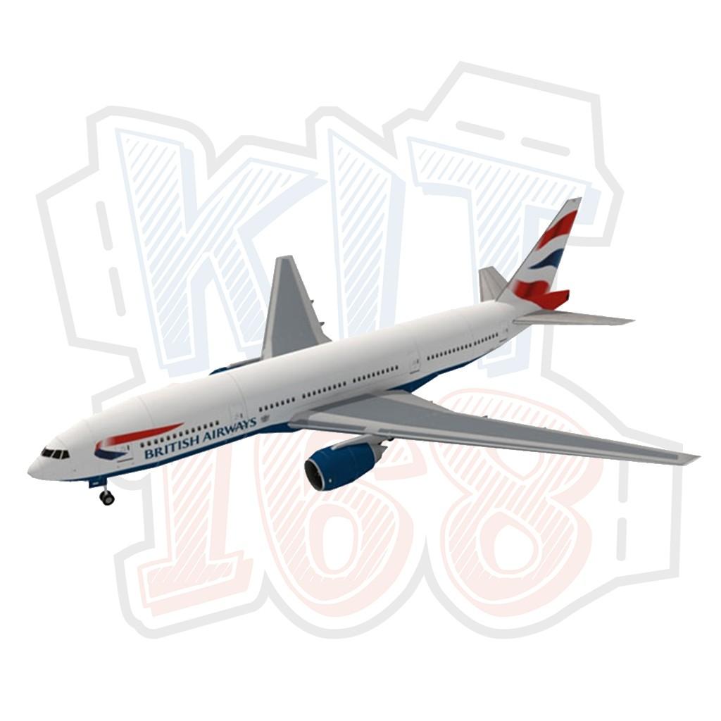 Mô hình giấy máy bay Boeing 777-200 British Airways