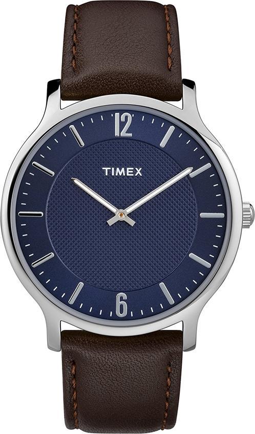 Đồng Hồ Nam Dây Da Timex Metropolitan TW2R49900 (40mm) - Mặt Xanh Dương