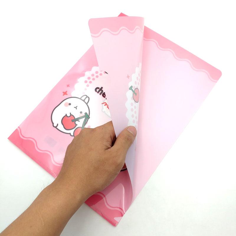 Bìa Lá Magic Ver.3 Size L Molang - Hồng