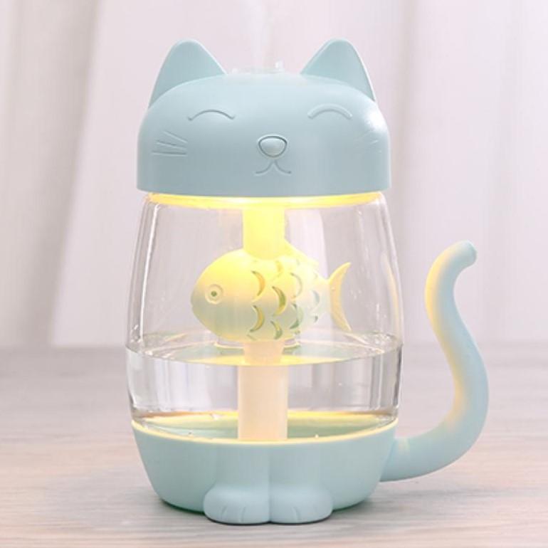 Máy Xông Tinh Dầu Mèo Lucky Kèm Đèn Led và Quạt