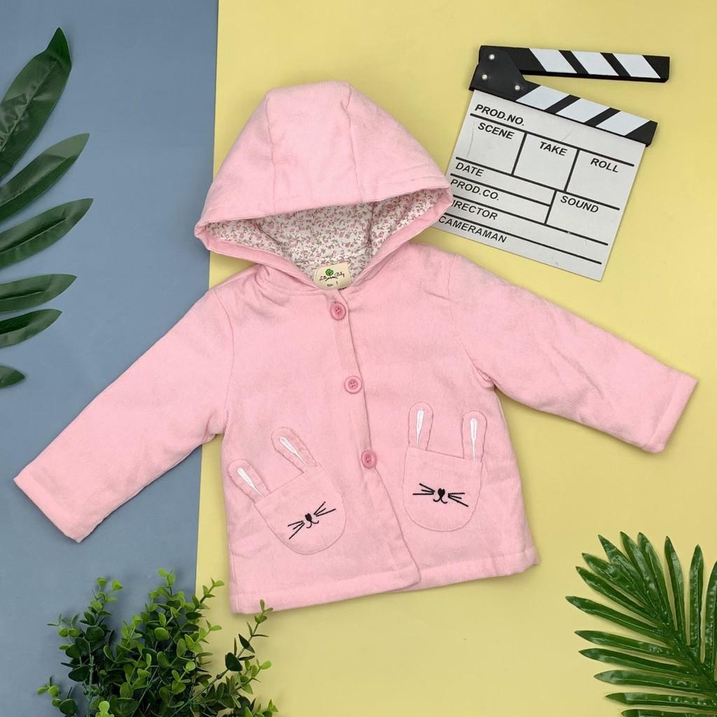 Thu đông 2020: Áo khoác nhung lót thô hoa thương hiệu Litibaby size 1-5, dành cho bạn từ 9kg đến 19kg