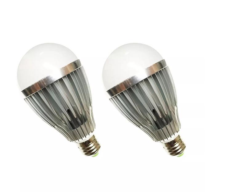 Bộ 2 Cái Đèn LED Búp Nhôm Tiết Kiệm Điện 12W (Vàng nhạt)