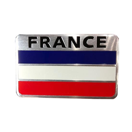 Tem nhôm cờ Pháp trang trí xe ( 8 x 5 cm)