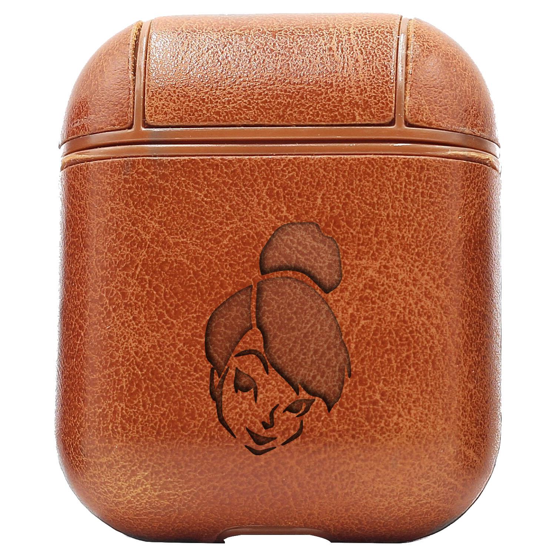 Bao Da Cover Apple Airpods 1 / 2 Premium  Khắc Hình Disney Tiên Tinker Bell 3