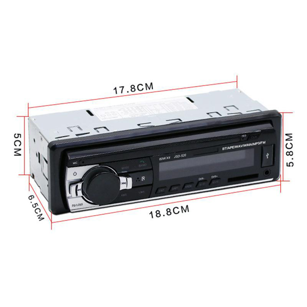 Đầu 1 Din MP3 Bluetooth JSD-520 (Đuôi Ngắn)