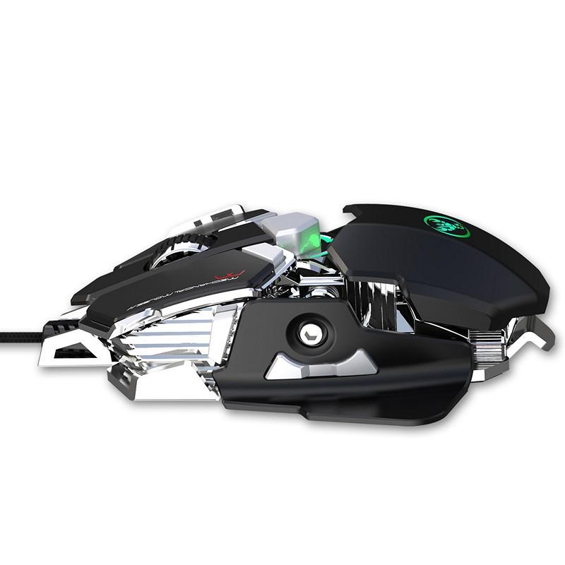 Chuột cơ gaming led RGB 6400DPI - J600B mechanical Gaming mouse