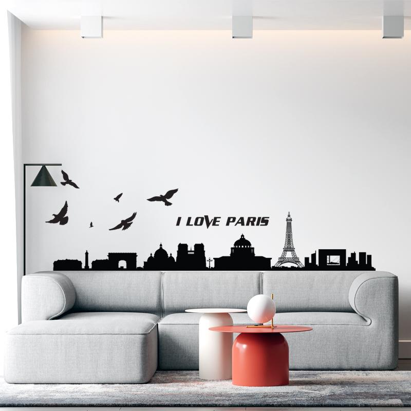 Decal Trang Trí Phòng Làm Việc, Decal Trang Trí Phòng Ngủ, Decal Trang Trí Phòng Khách | Decal Chủ Đề Thành Phố Paris