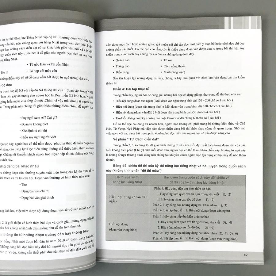 combo 2 cuốn: Luyện Thi Năng Lực Tiếng Nhật: Đọc Hiểu N3 + Ngữ Pháp N3