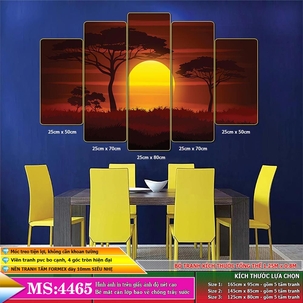 Tranh phong cảnh treo tường phòng khách, phòng ngủ, phòng ăn:4465L5F