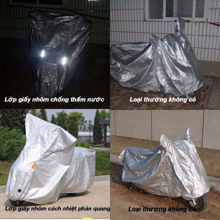 Bạt phủ xe máy 3D chống nắng mưa=248.000 ₫