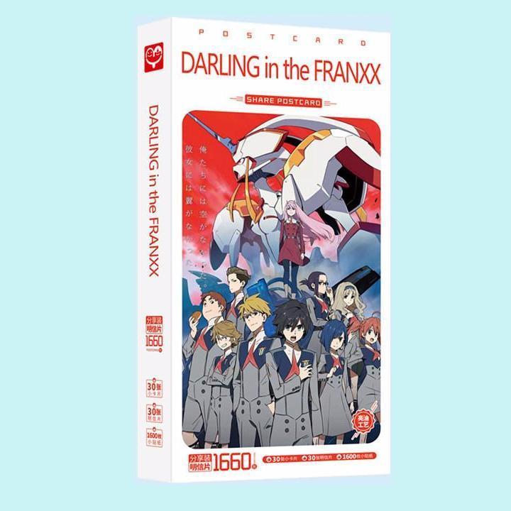 (BÌA NGẪU NHIÊN) Hộp ảnh POSTCARD mẫu mới DARLING IN THE FRANXX - CHIẾN TRẬN NGƯỜI MÁY anime