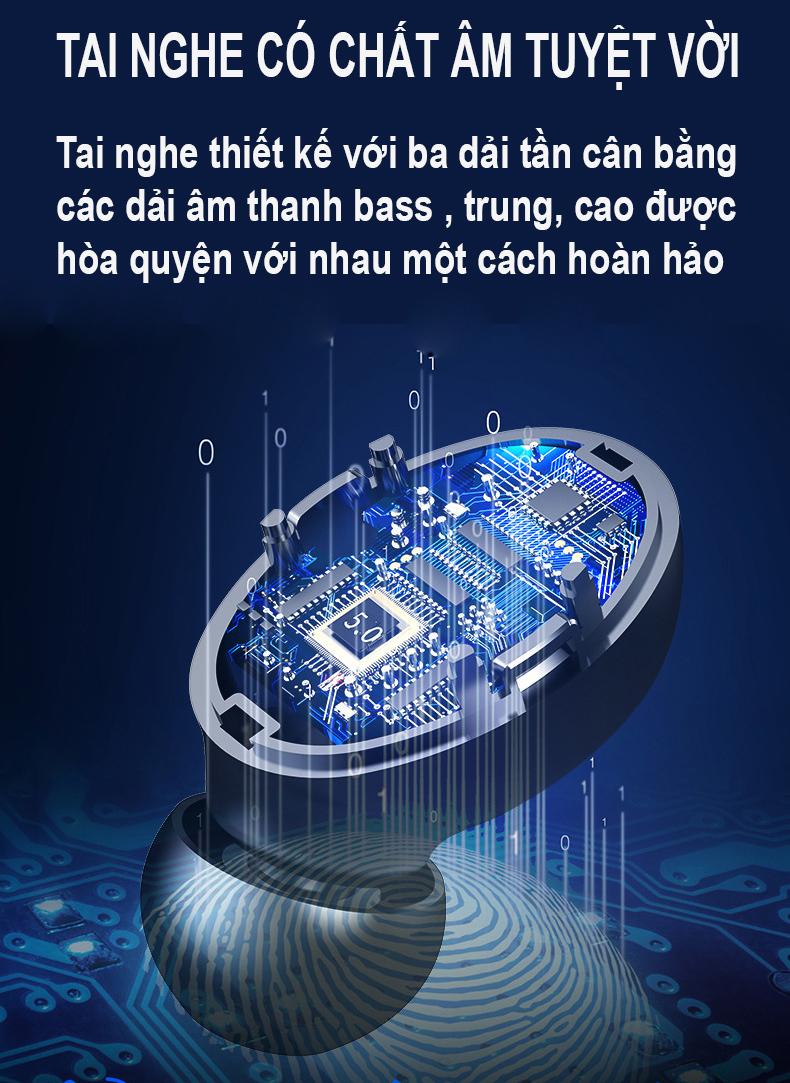 Tai nghe bluetooth không dây F9 TWS D909