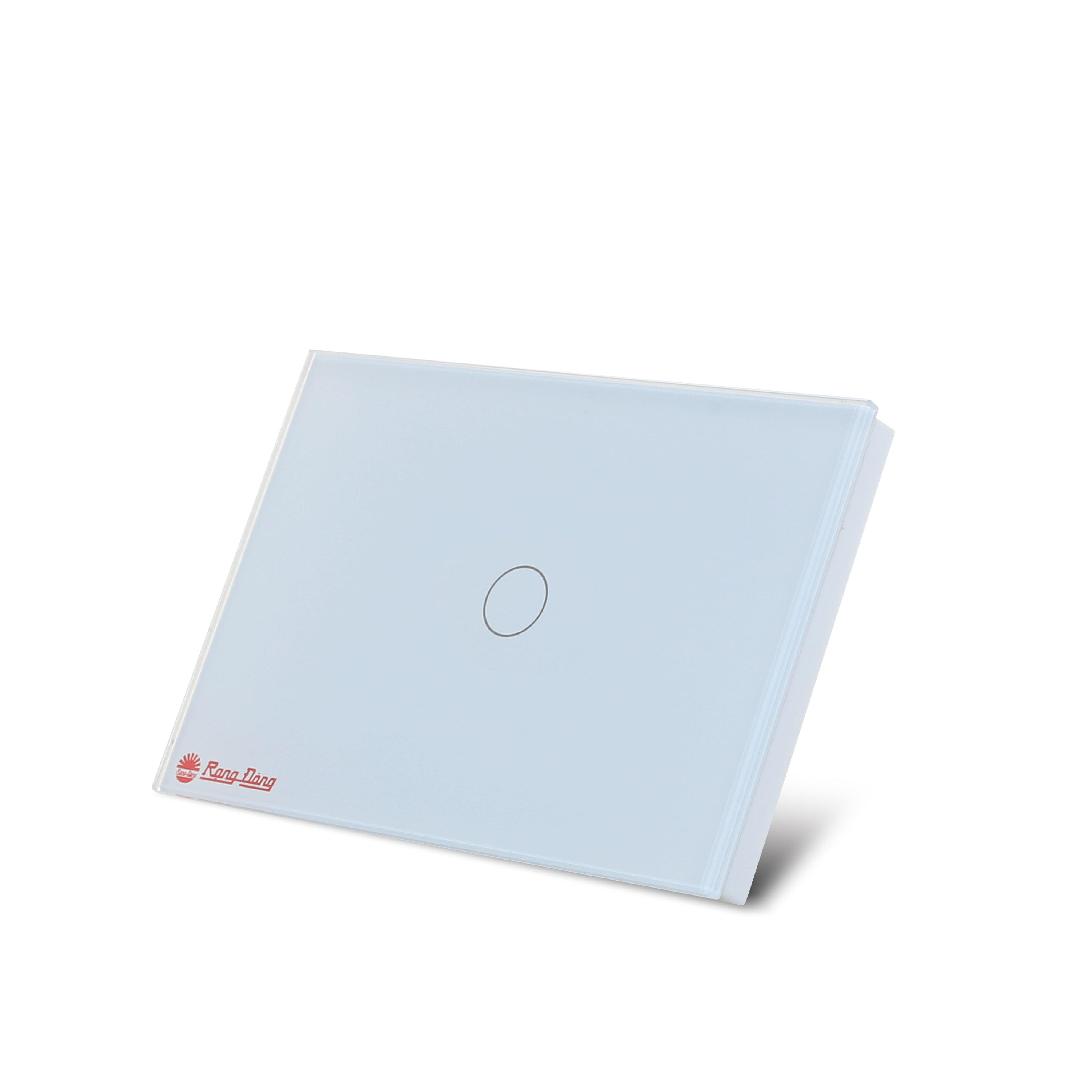 Công tắc cảm ứng âm tường điều khiển từ xa bằng wifi và giọng nói nút bấm chính hãng Rạng Đông Model: RD SW.1