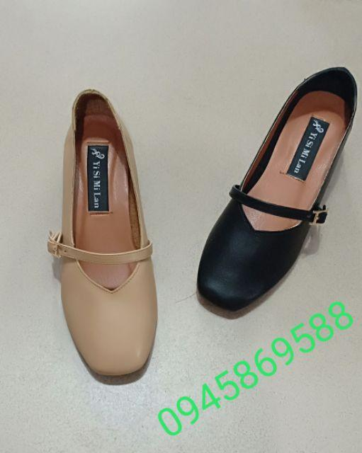 giày mũi vuông style hàn quốc (ảnh thật)