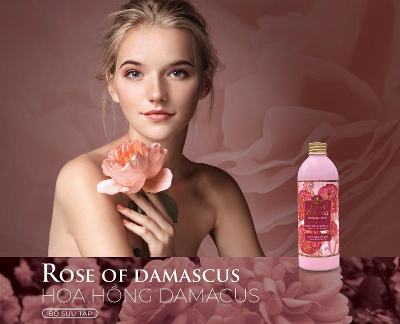 Sữa tắm Tesori d'Oriente Hoa hồng Damacus 500ml tặng móc khóa