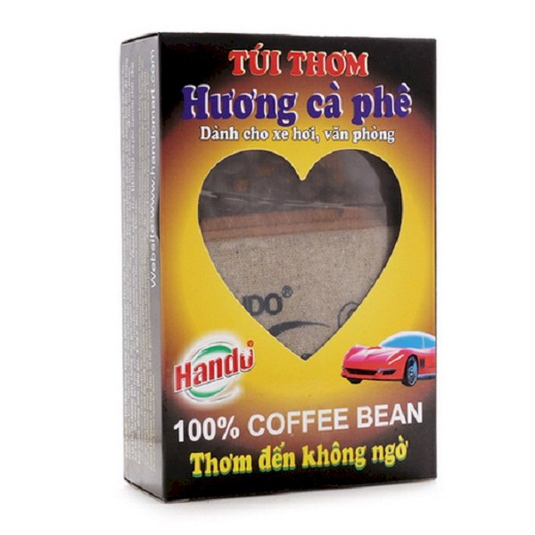 Combo 2 túi thơm treo xe ô tô hương Cafe nguyên chất Hando 100g/túi