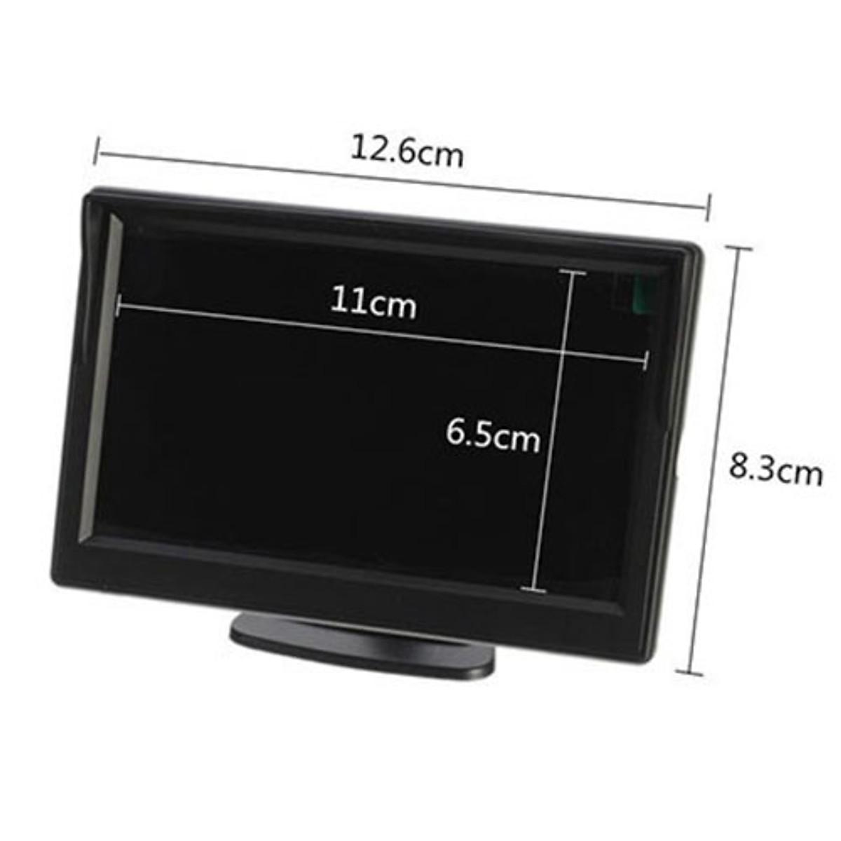 Combo camera lùi hồng ngoại 12 mắt và màn hình LCD 5inch