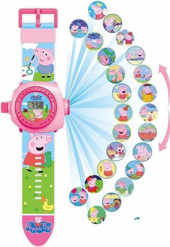 Đồng hồ chiếu 20 hình heo màu hồng