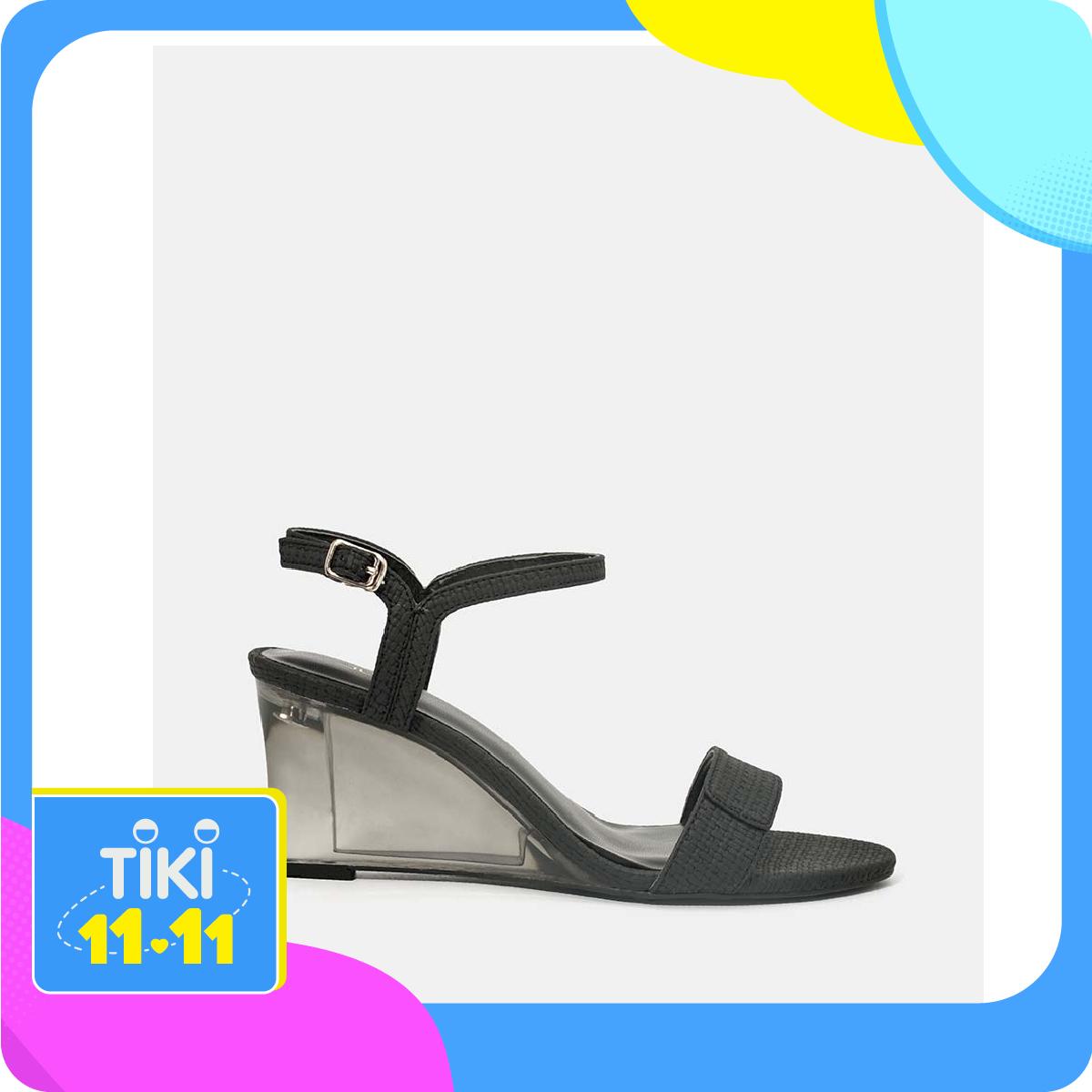 Giày Sandal Quai Mũi Ngang Giả Xé Dán