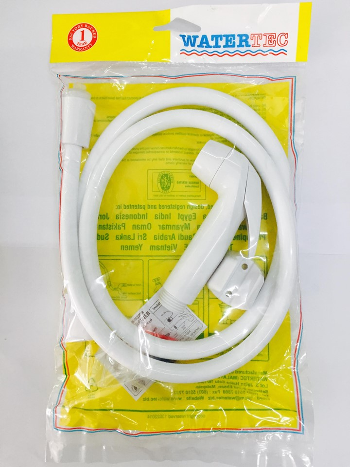 Bộ vòi xịt vệ sinh Watertec WTT-VX011 –  Nhựa PP (nhựa số 5) Malaysia