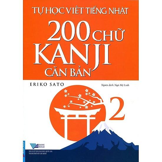 Combo sách Tự Học Viết Tiếng Nhật - 200 Chữ Kanji Căn Bản Tâp 1 và 2