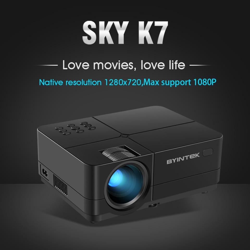 Máy chiếu K7-U mini, Led, 3500 lumens, 1080P của hãng Byintek - Hàng chính hãng